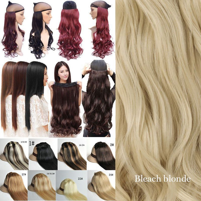 140g Thick Clip In 100 Real As Human Hair Extensions Full Head