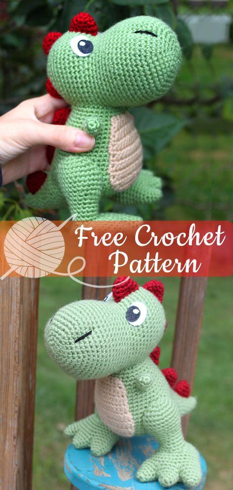 18 Crochet Dinosaur Patterns - Crochet News   997x474