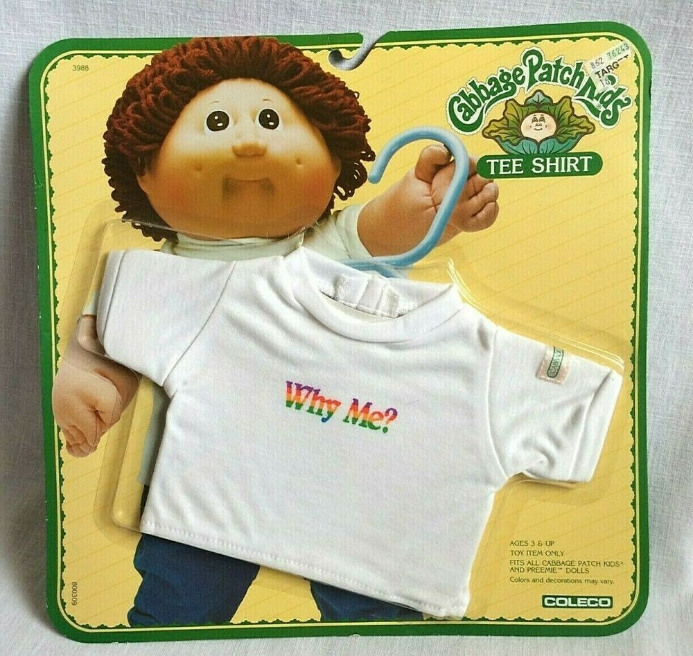 1984 Cabbage Patch Kids Tee Shirt Sealed In Original Package White Why Me Vtg Cabbagepatchkids Cabbage Patch Kids Patch Kids Vintage Cabbage Patch Dolls
