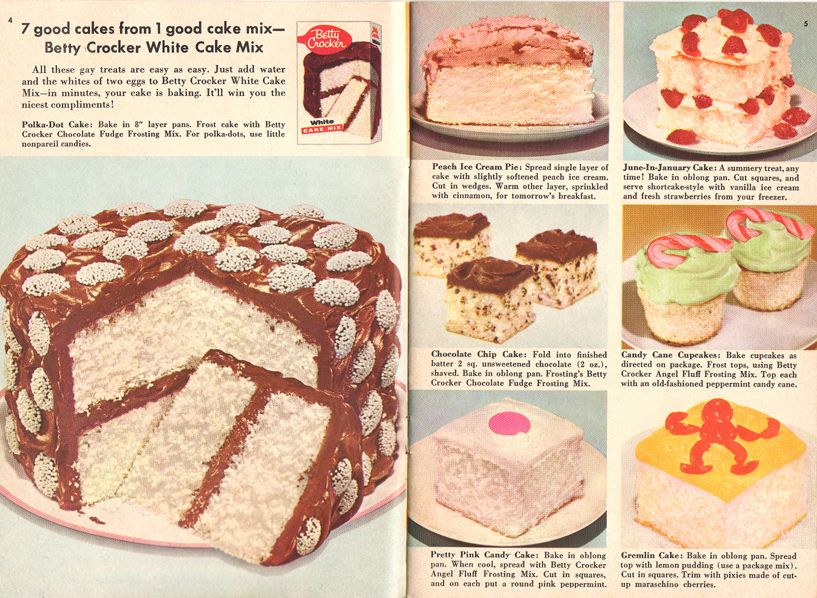 Betty Crocker White Cake Mix With Images Retro Desserts Cake