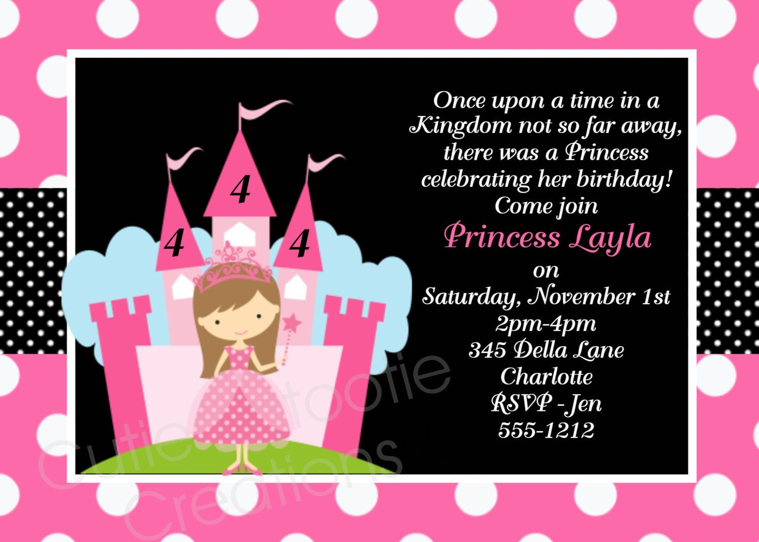 Princess birthday invitation princess by cutiestiedyeboutique princess birthday invitation princess party invitations printable or printed filmwisefo Image collections