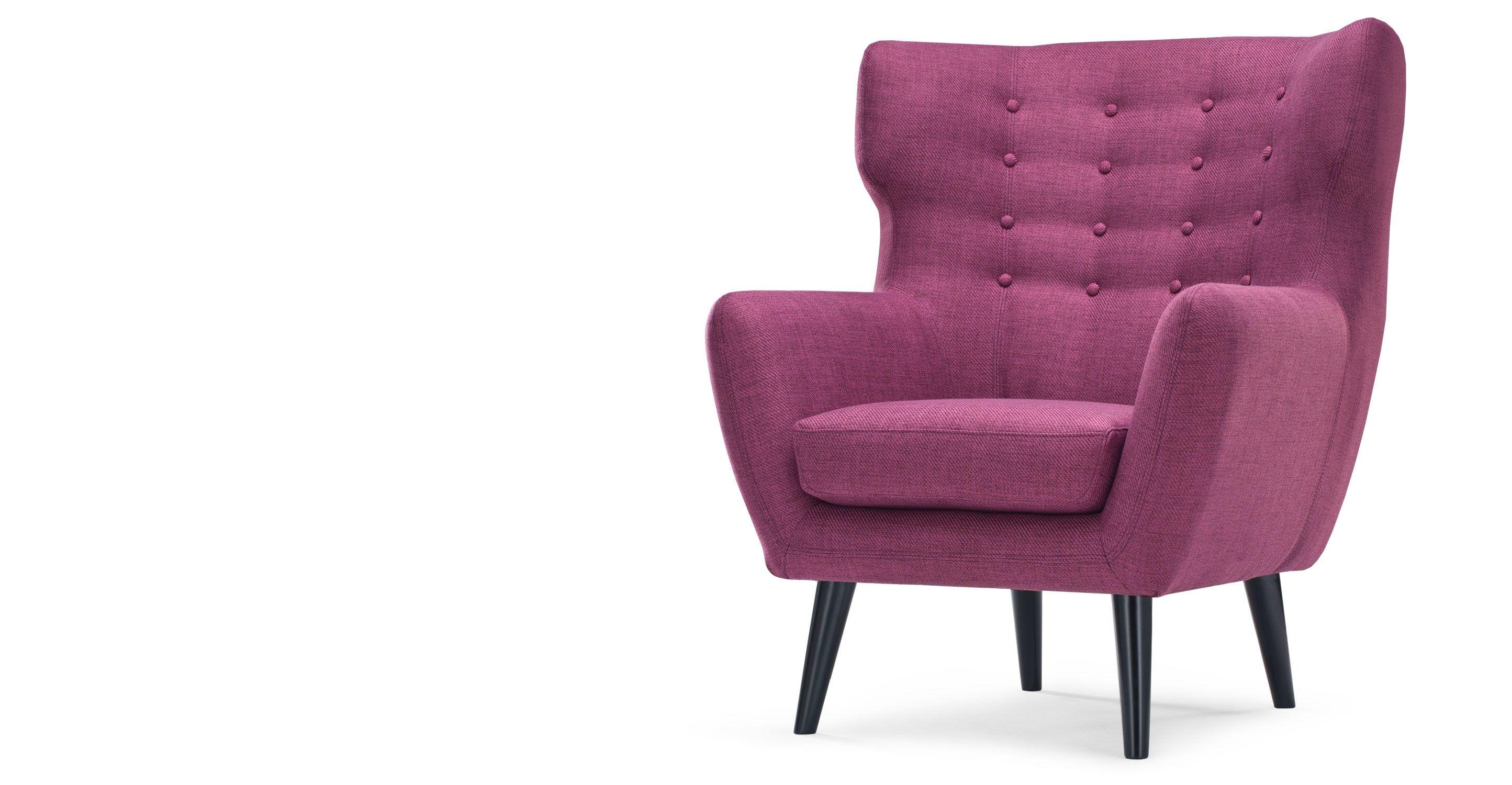 Sedie Marroni ~ Kubrick wing back chair in plum purple anni sedie e ali