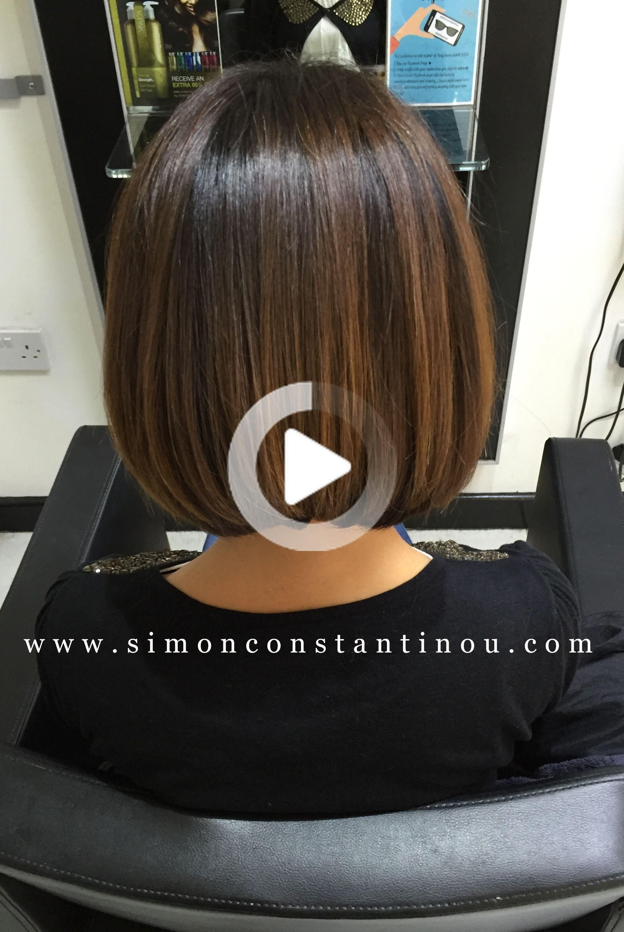Simon Constantinou In 2020 Brunette Bob Long Layered Bob Hairstyles Thick Hair Styles