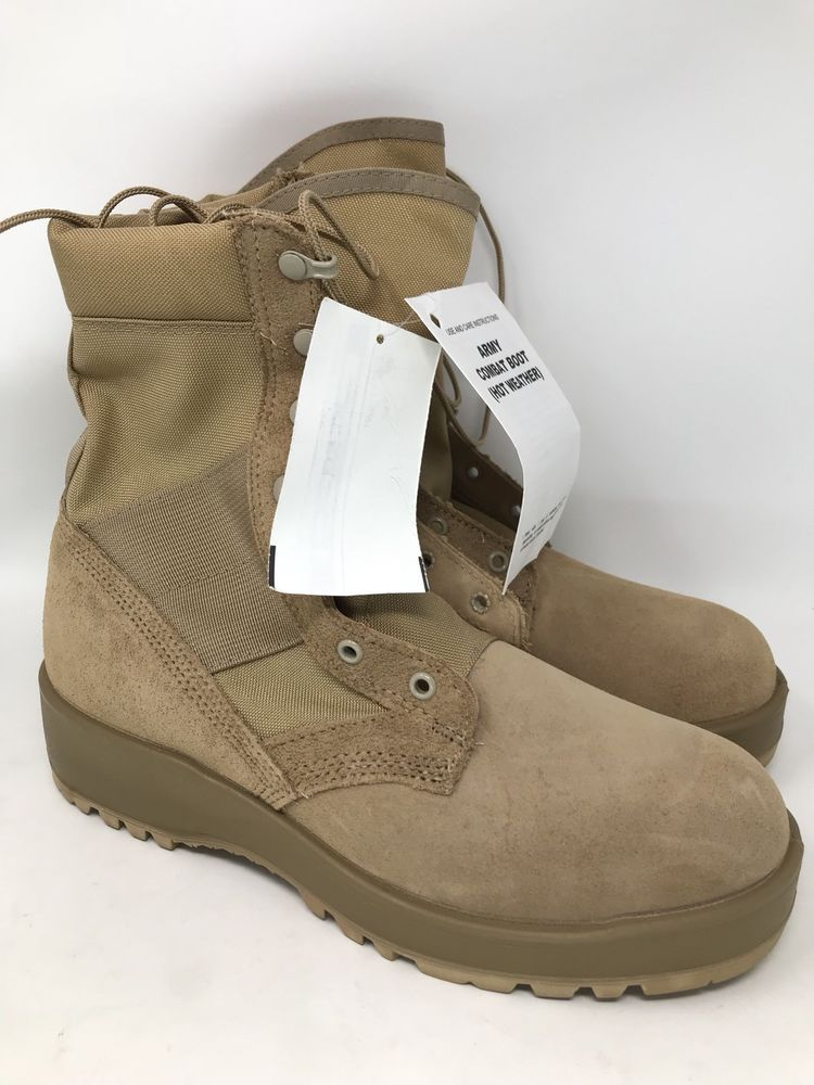 the best attitude c3ab5 3047b NEW Standard Issue US Army Combat Boots (Hot Weather) brand new size 9.5R  Vibram  Vibram  Military