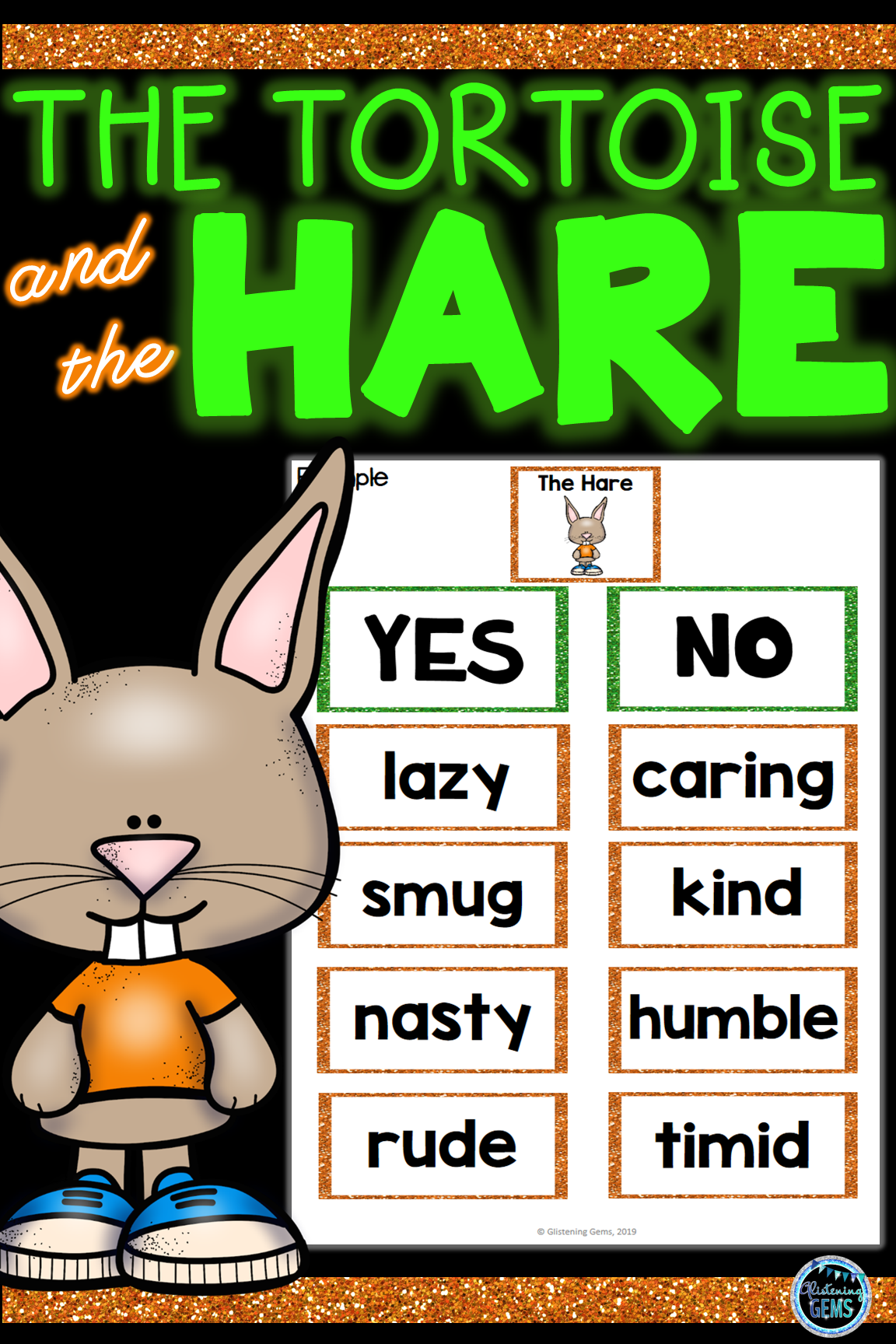 The Tortoise And The Hare Character Traits Game
