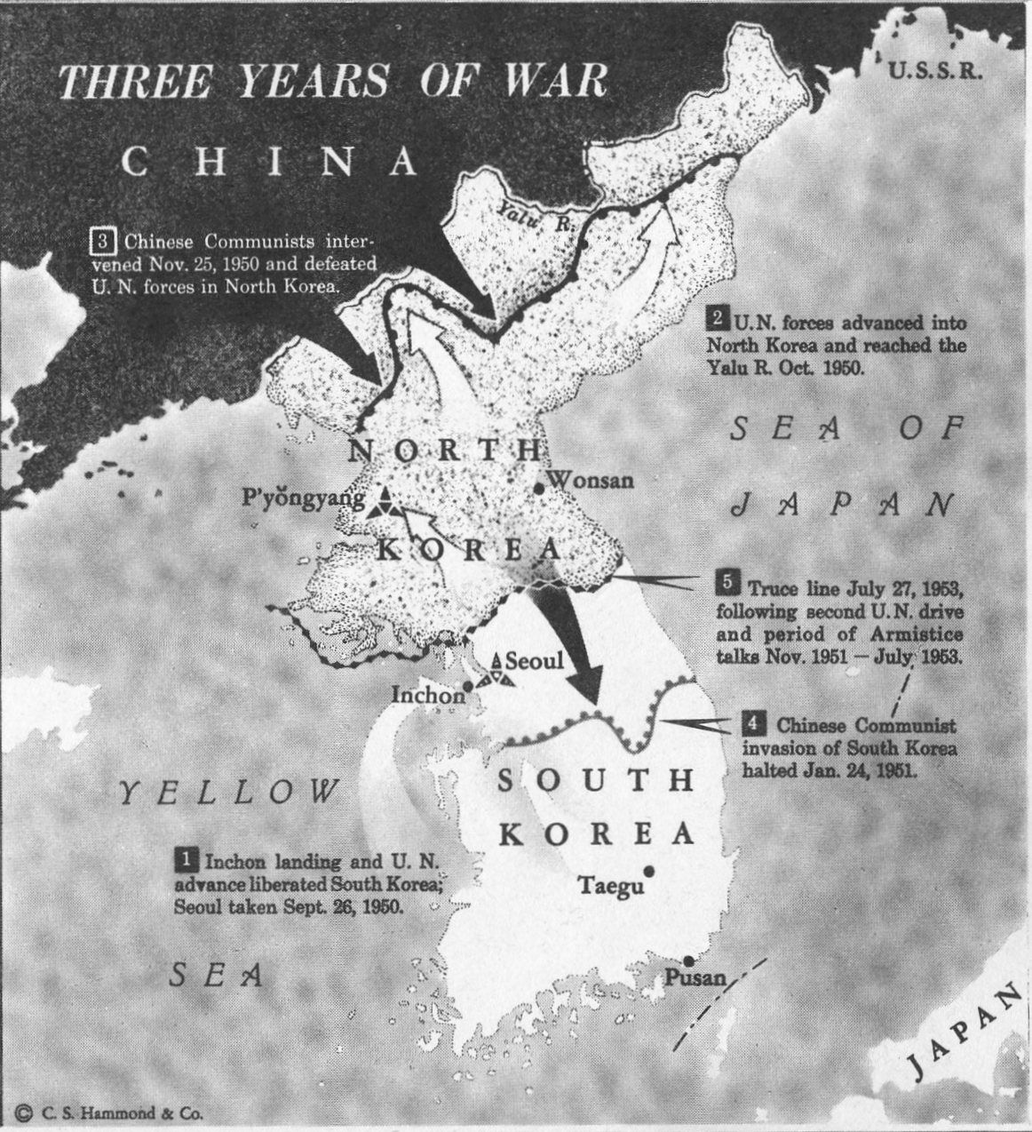 korean war notes With the korean war seemingly settling into a bloody stalemate, the united nations passes a resolution calling for a negotiated end to the conflict the first peace talks between american, chinese, north korean, and south korean negotiators will begin in august 1951, but will drag on for nearly two years.