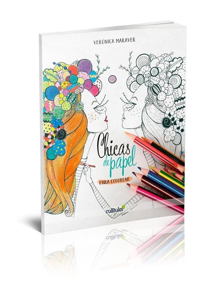 Libro Chicas de papel para colorear | Wishes | Sobres de papel ...