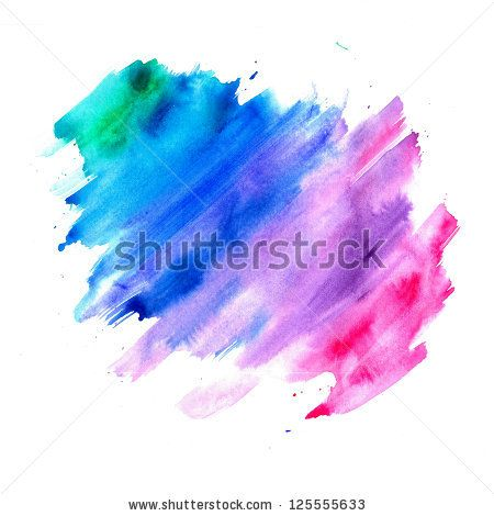 Abstract Watercolor Background Blue Purple Pink And Green Color
