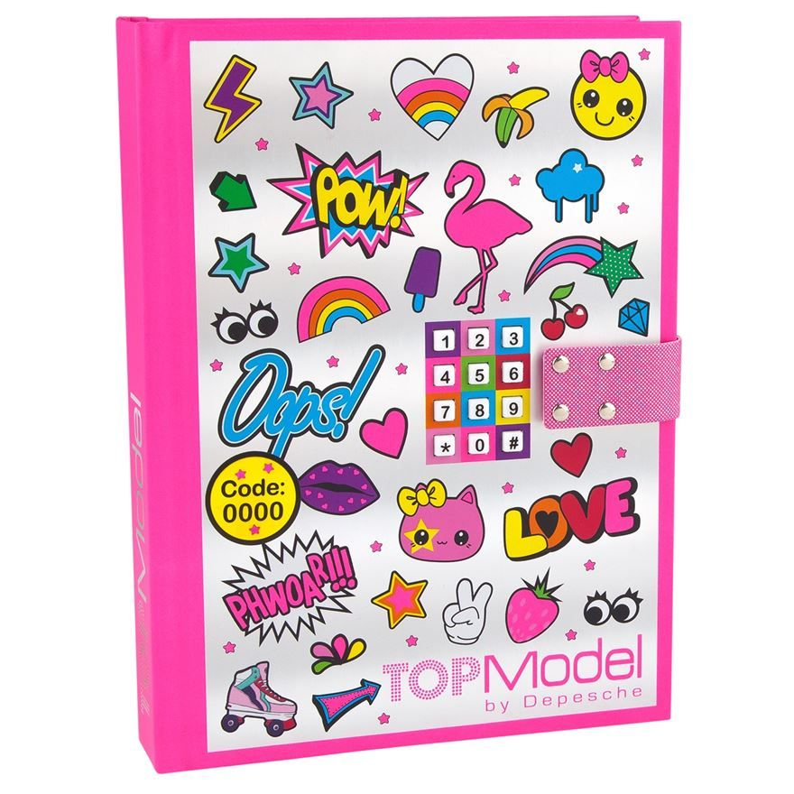 This TOP Model Diary with Locking Code in pink is ideal for