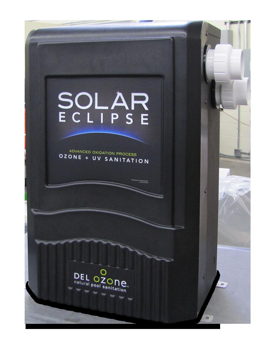 Del Ozone S Solar Eclipse Corona Discharge Ozone Generation Uv Sanitation Combination System With Images Ozone Uv Pool System Pool
