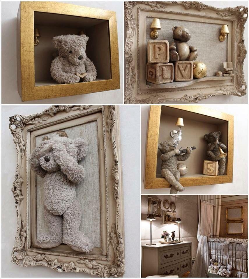 avec son vieil ours en peluche shabby chic ideas pinterest kinderzimmer baby. Black Bedroom Furniture Sets. Home Design Ideas