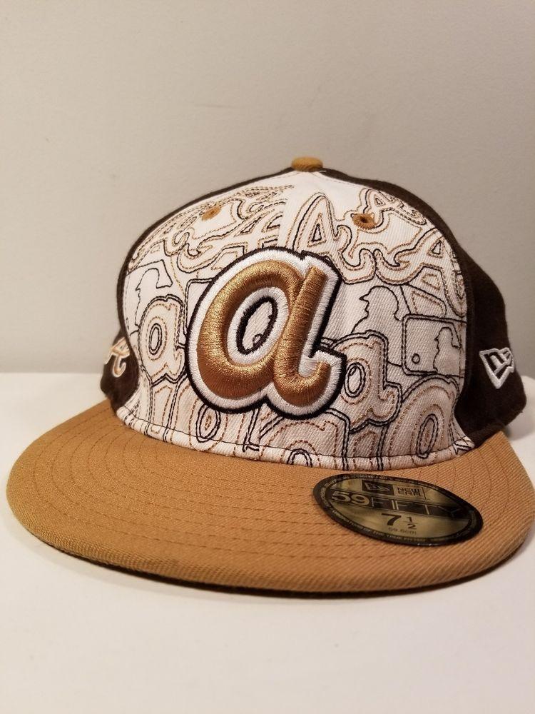 Atlanta Braves MLB NEW ERA 59 fifty hat size 7 1/2 like new