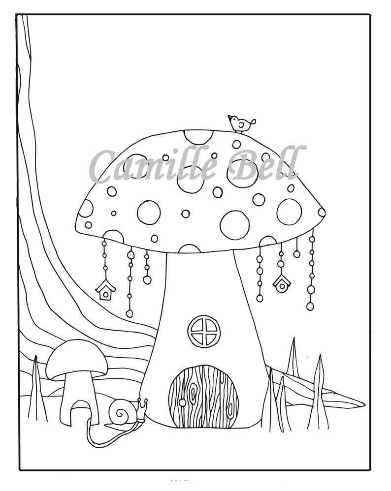 fairy garden house coloring pages  google search  house