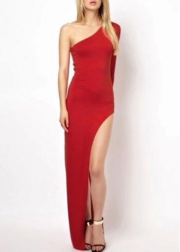 Split Design One Shoulder Long Sleeve Dress with cheap wholesale price, buy Split Design One Shoulder Long Sleeve Dress at rotita.com !