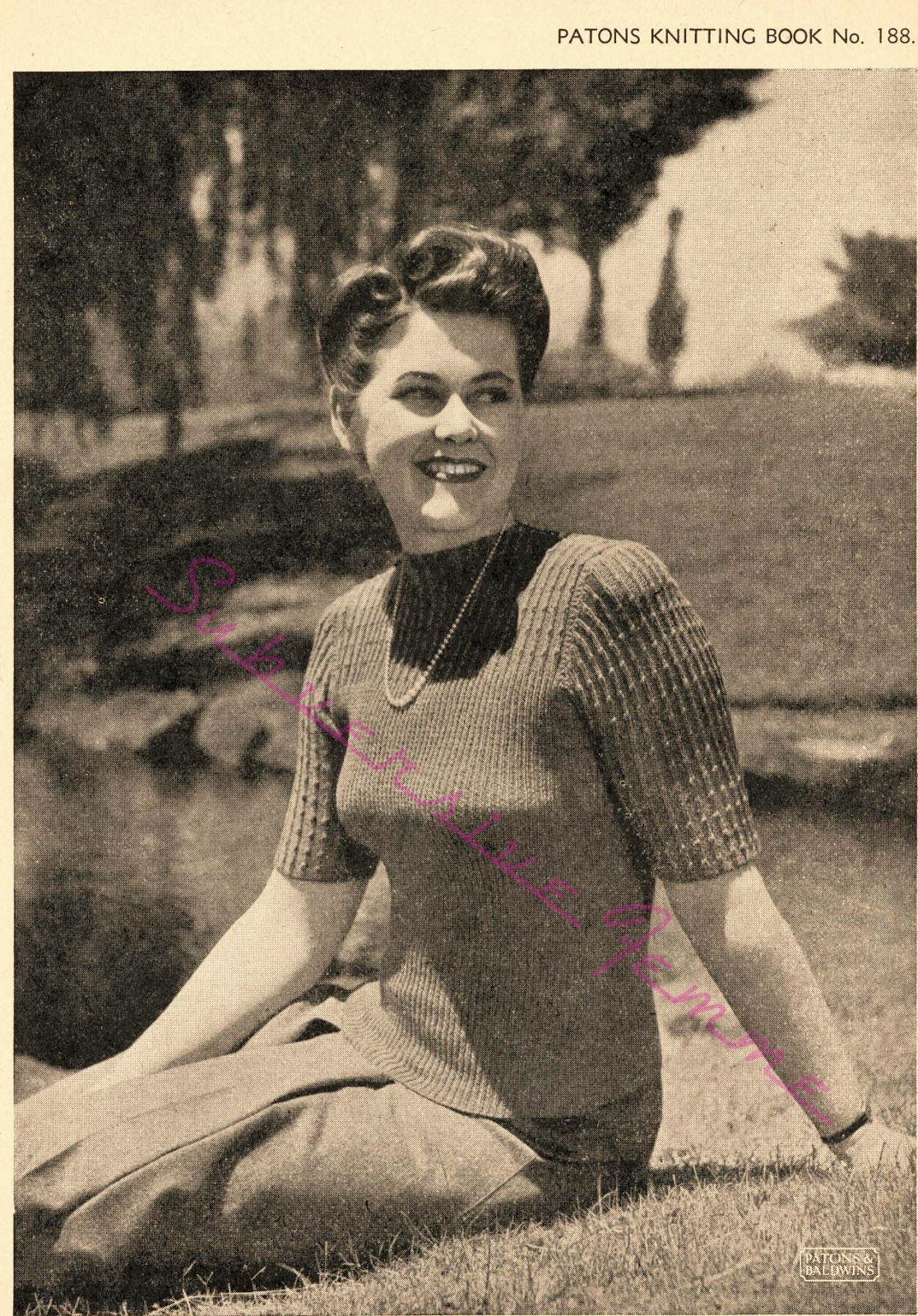Todays free vintage knitting pattern comes from patons knitting todays free vintage knitting pattern comes from patons knitting book no188 circa late bankloansurffo Gallery
