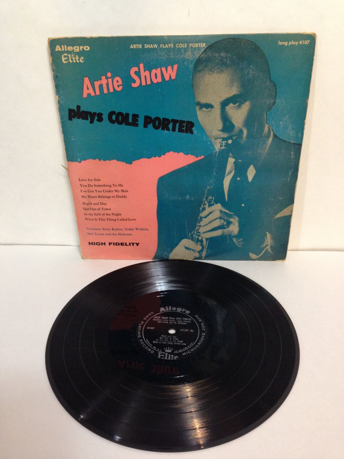 Artie Shaw Plays Cole Porter Vintage Vinyl 33 Rpm Record Album 1956 Allegro Elite Record Corp Of America 4107 10 Inch Long P Record Album Records Day For Night