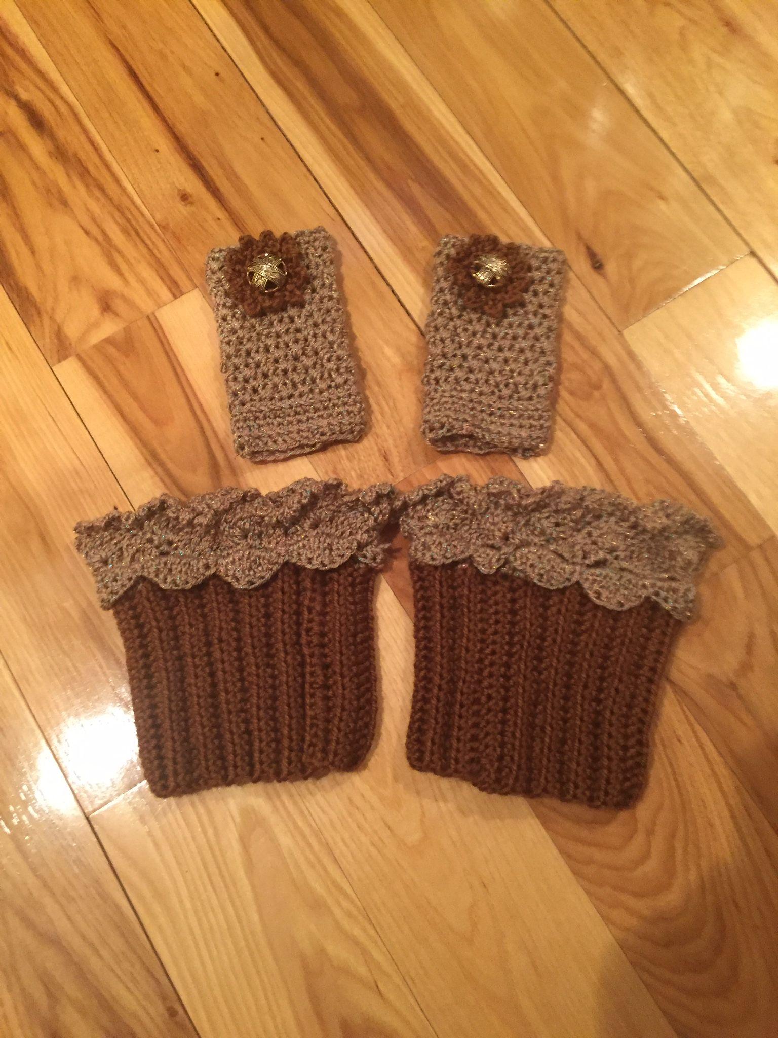 Fingerless gloves and boot cuffs