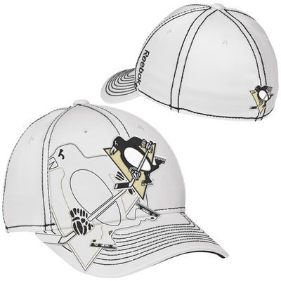 sports shoes 96f69 a229d Reebok Pittsburgh Penguins Draft Spin Structured Flex Hat - White