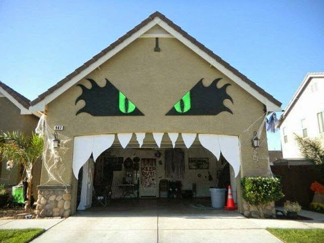 Unified Window Halloween Decorations for Your House Door decor - halloween garage ideas