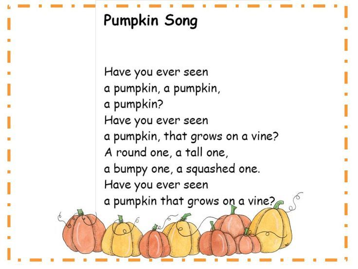 Halloween song for kids Use this for a scrapbook bag book for ...