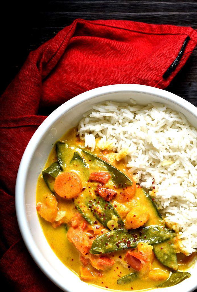 , Süßkartoffel-Curry. Mit Zuckerschoten., Travel Couple, Travel Couple