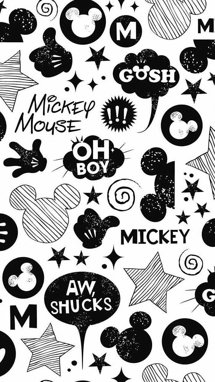mickey mouse wallpaper black and white - Pesquisa Google