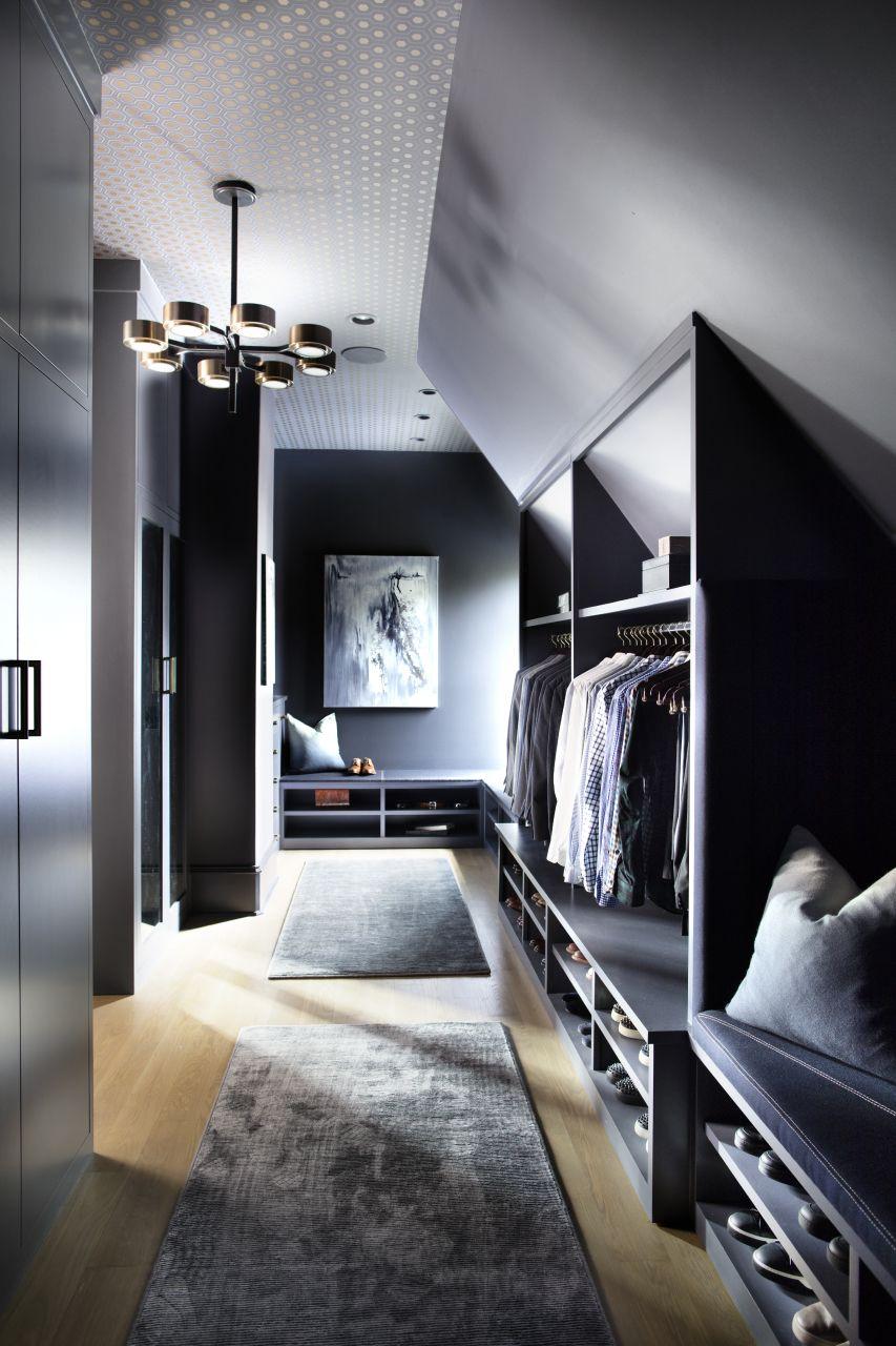 Garderobe Image By Ita In 2020 Loft Style Bedroom Closet Design
