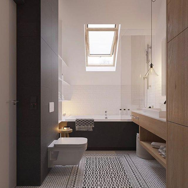 Schuifdeur inspiratie - Scandinavische badkamer, Badkamer en Interieur