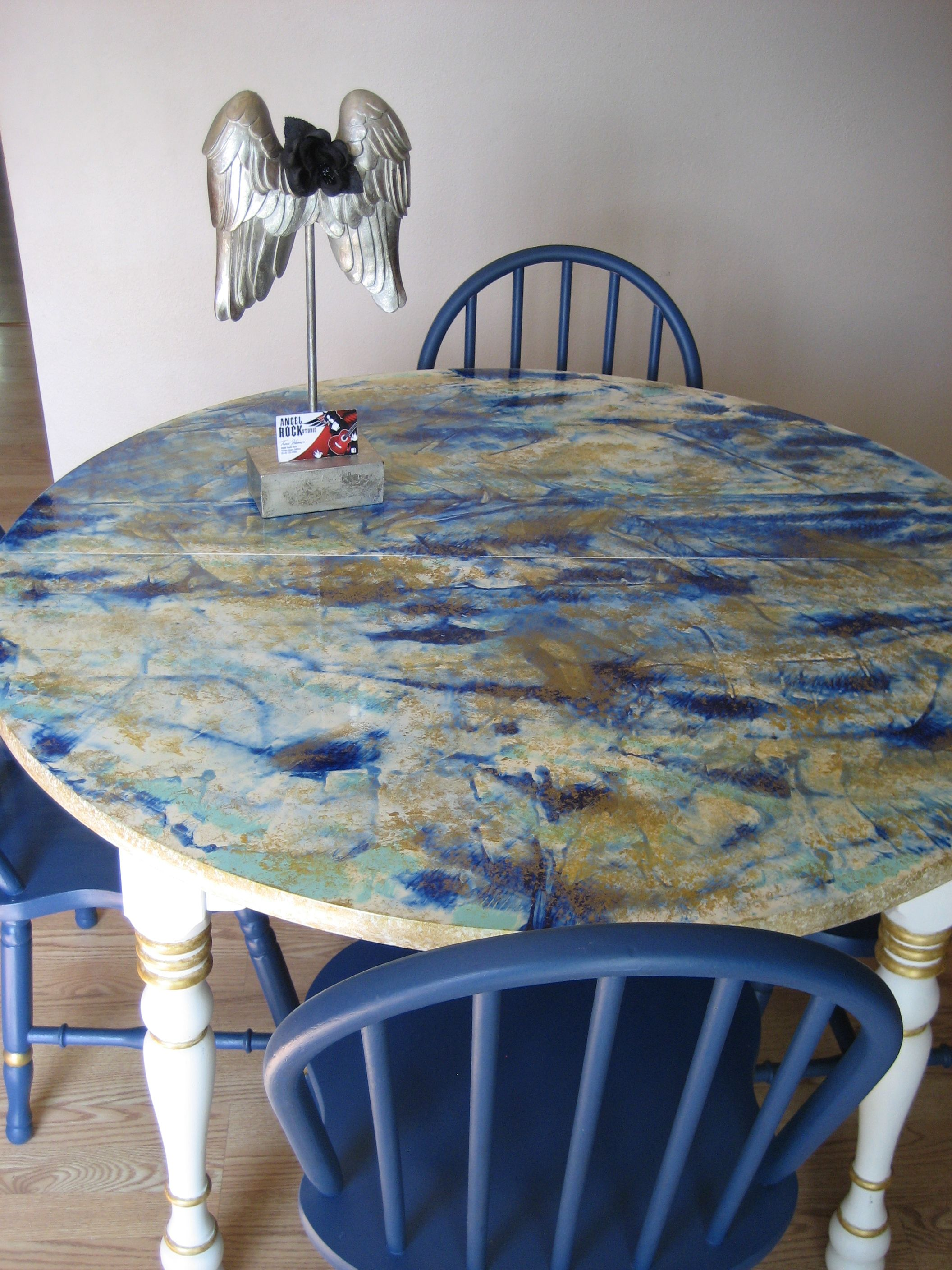Table Top Done With Unicorn Spit Gel Stain And Gold