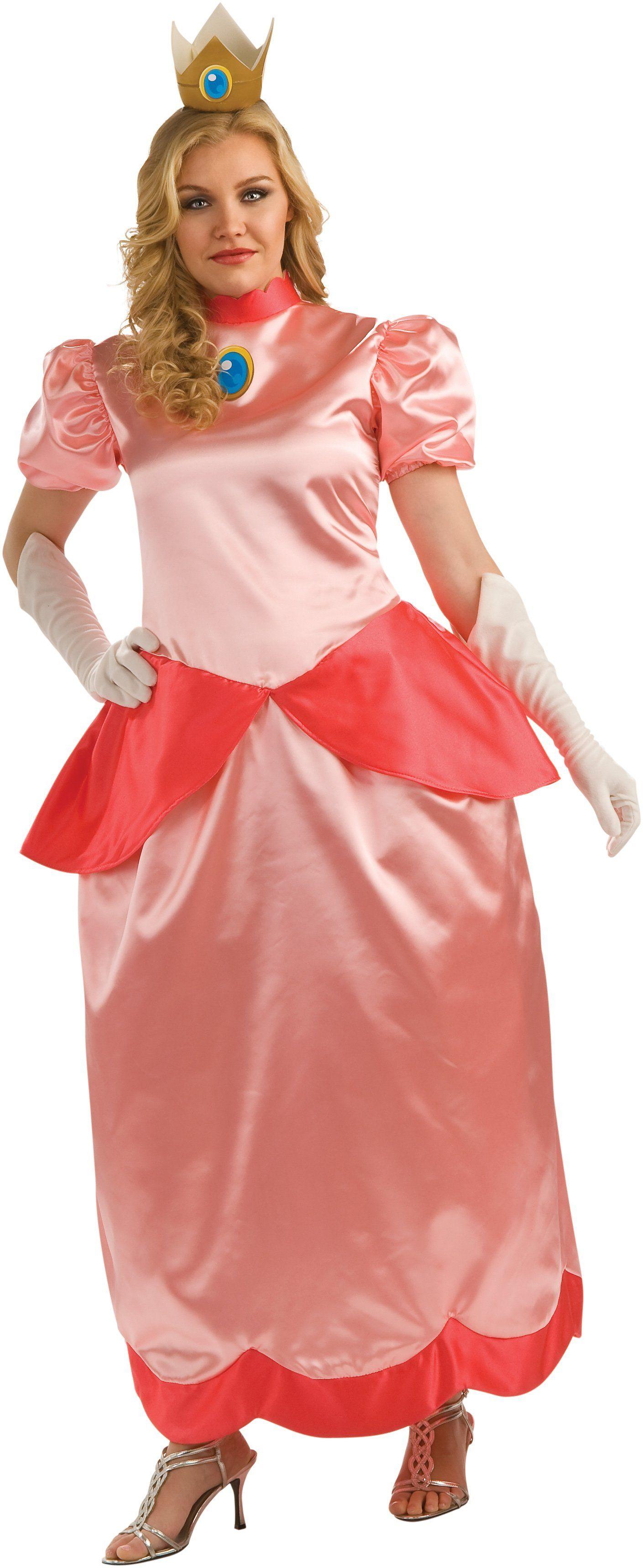 Super Mario Brothers Deluxe Princess Peach Plus Size Costume - Pure Costumes  sc 1 st  Pinterest & Super Mario Bros. - Deluxe Princess Peach Plus Adult Costume ...