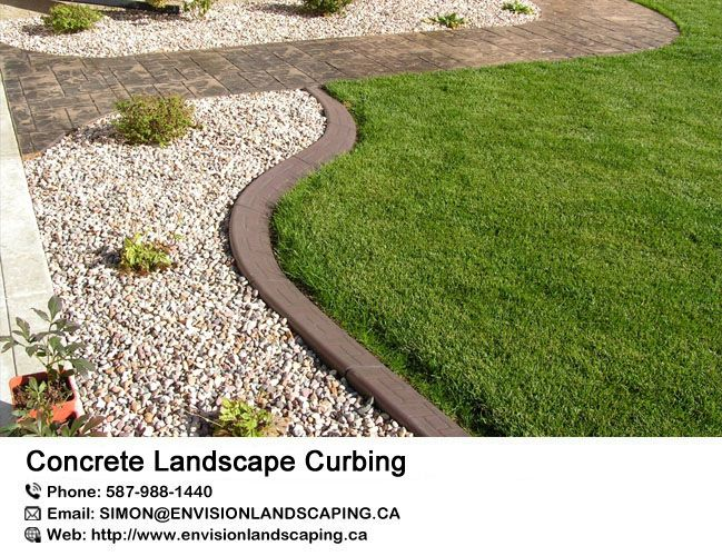 Concrete Landscape Curbing Is An Alternative To Plastic 400 x 300