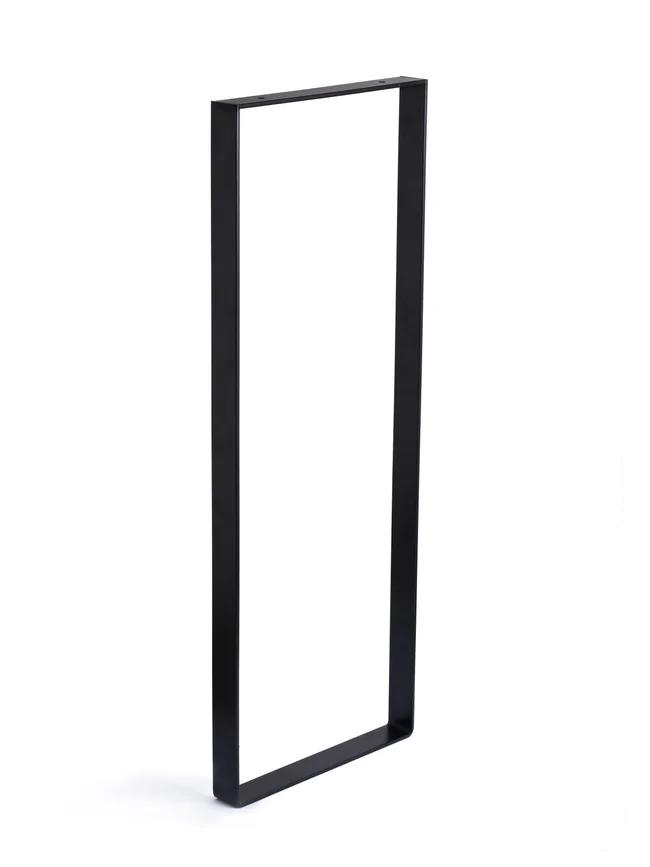 Pied Meuble Rectangle Fixe Acier Mat Noir 80 Cm Leroy Merlin En 2020 Avec Images Pied Meuble Meuble Pied Metal