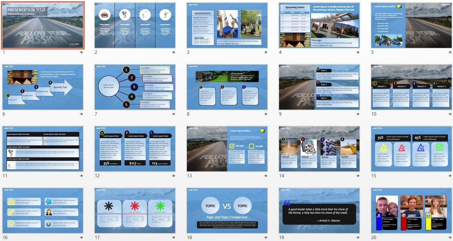 Follow your passion powerpoint by sagefox free powerpoint free all themed powerpoint templates browse our collection of thousands of free powerpoint templates new powerpoint templates added daily toneelgroepblik Image collections