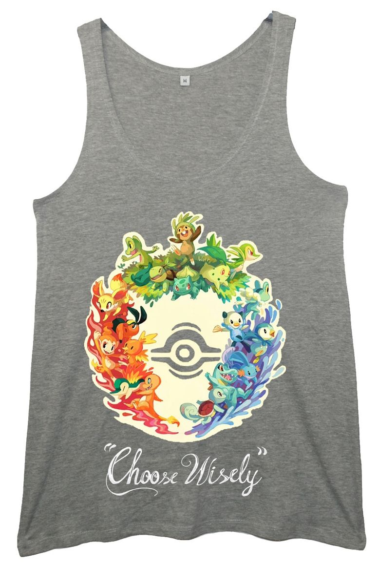 0a997237 Choose Wisely' All Starters. Pokemon Womens Tunic Vest   Casual ...