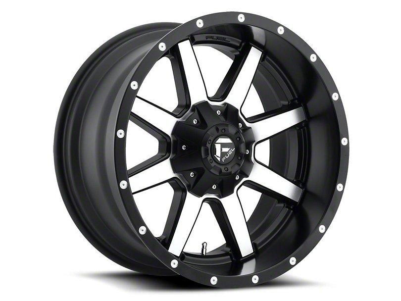 Fuel Wheels Maverick Black Machined 6 Lug Wheel