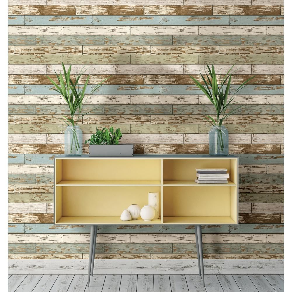 Nuwallpaper Multi Color Old M Vintage Wood L And