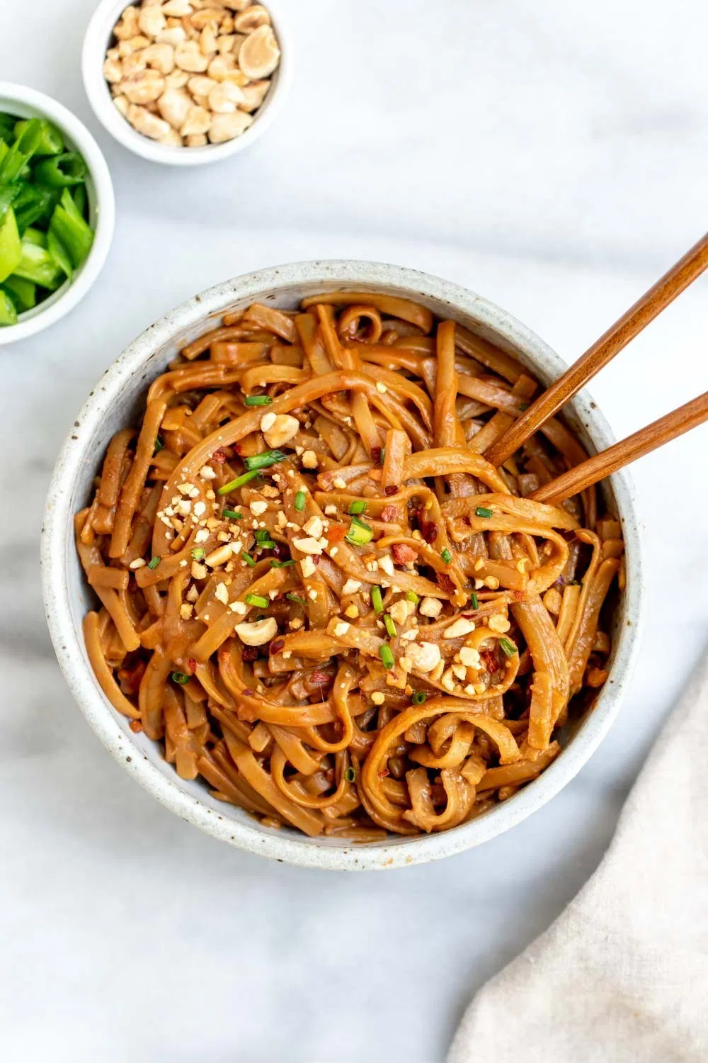 Photo of 15 Minute Spicy Peanut Butter Noodles | Eat With Clarity