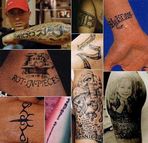 Eminems Tattoos Eminem Pinterest - Tatuajes-eminem