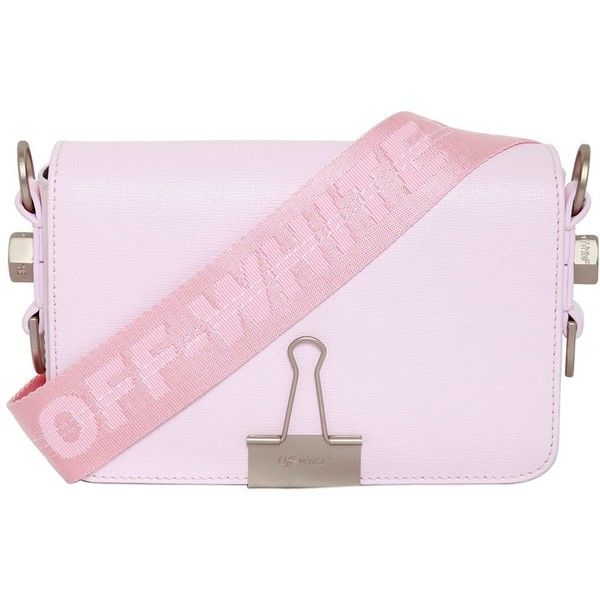 421d7999dae Off White Women Mini Saffiano Leather Shoulder Bag ( 735) ❤ liked on  Polyvore featuring bags, handbags, shoulder bags, pink, pink purse, strap  purse, ...