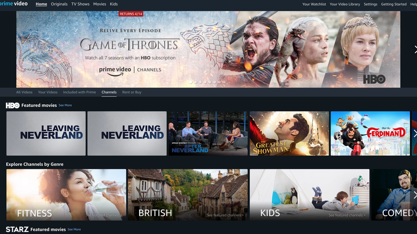 Prime subscribers can add HBO, Showtime, Starz, PBS