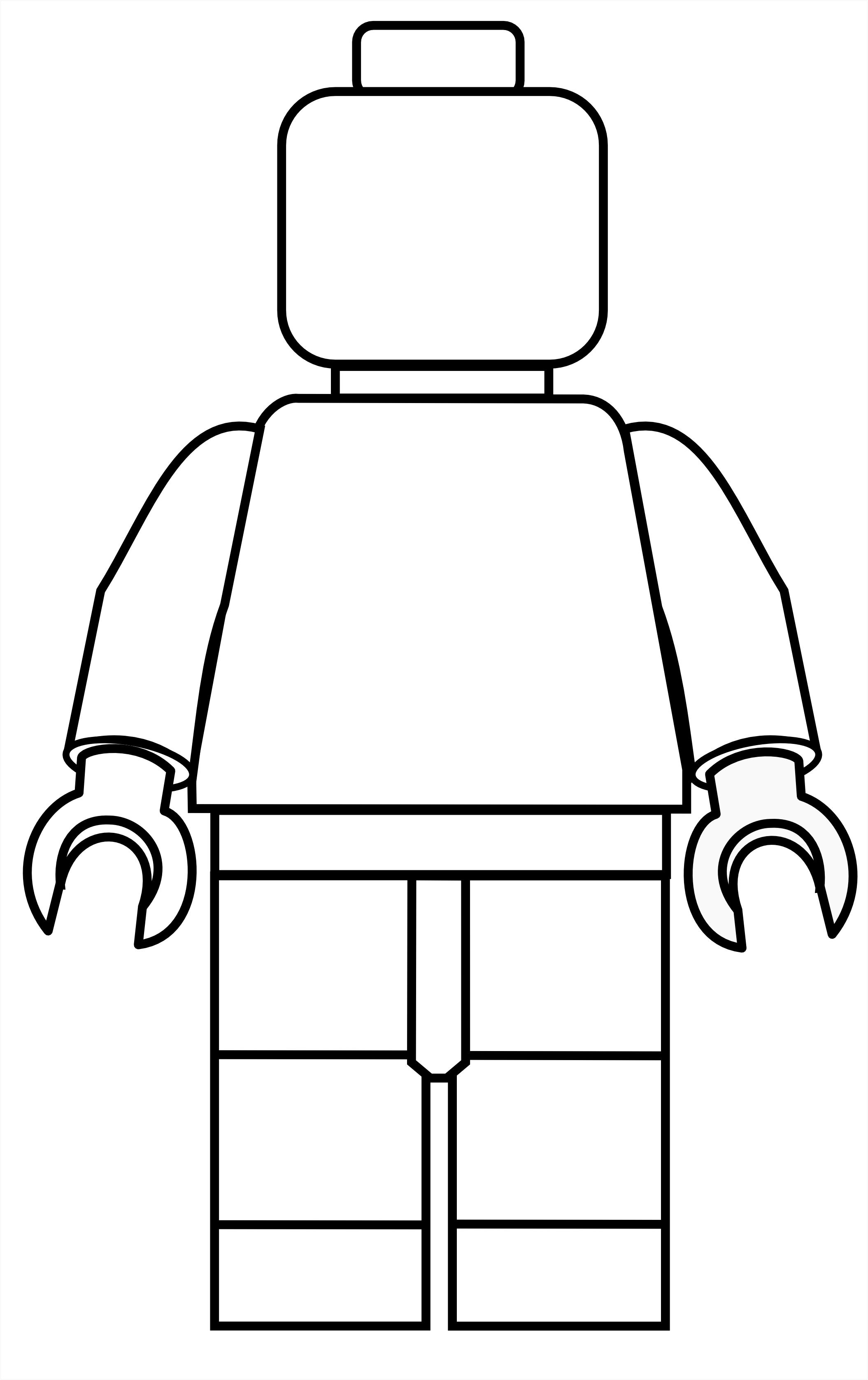 Más tamaños | Lego Mini Fig Drawing Template | Flickr: ¡Intercambio ...
