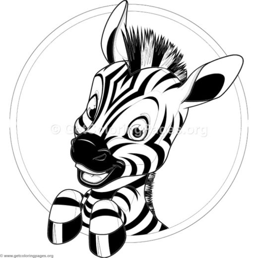 Printable Coloring Pages Of A Sitting Zebra Zebra Coloring Pages Animal Coloring Pages Cute Coloring Pages