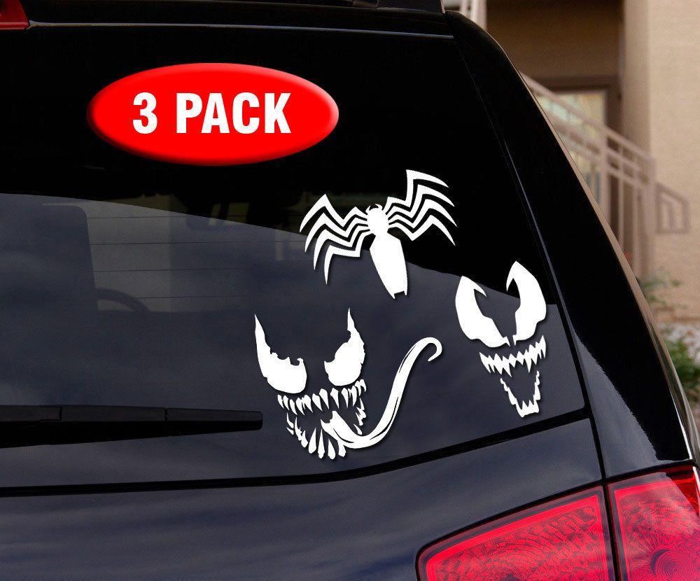 11 97 Venom Spiderman 3 Pack Vinyl Decal Sticker For Car Truck Wall Laptop Ebay Home Garde Venom Spiderman Venom Spiderman 3 Vinyl Decal Stickers [ 830 x 1000 Pixel ]