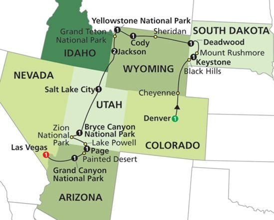Western Usa State Parks Map 8660 National Parks And