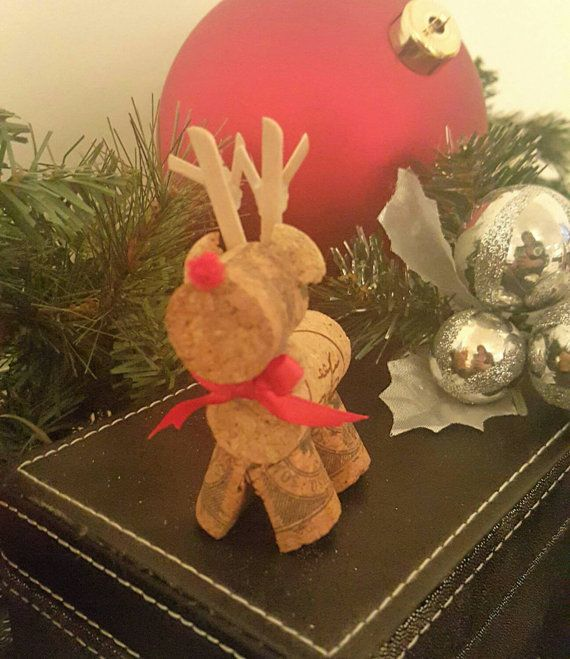 Check out this item in my Etsy shop https://www.etsy.com/listing/257716441/handmade-cork-rudolph-the-red-nosed