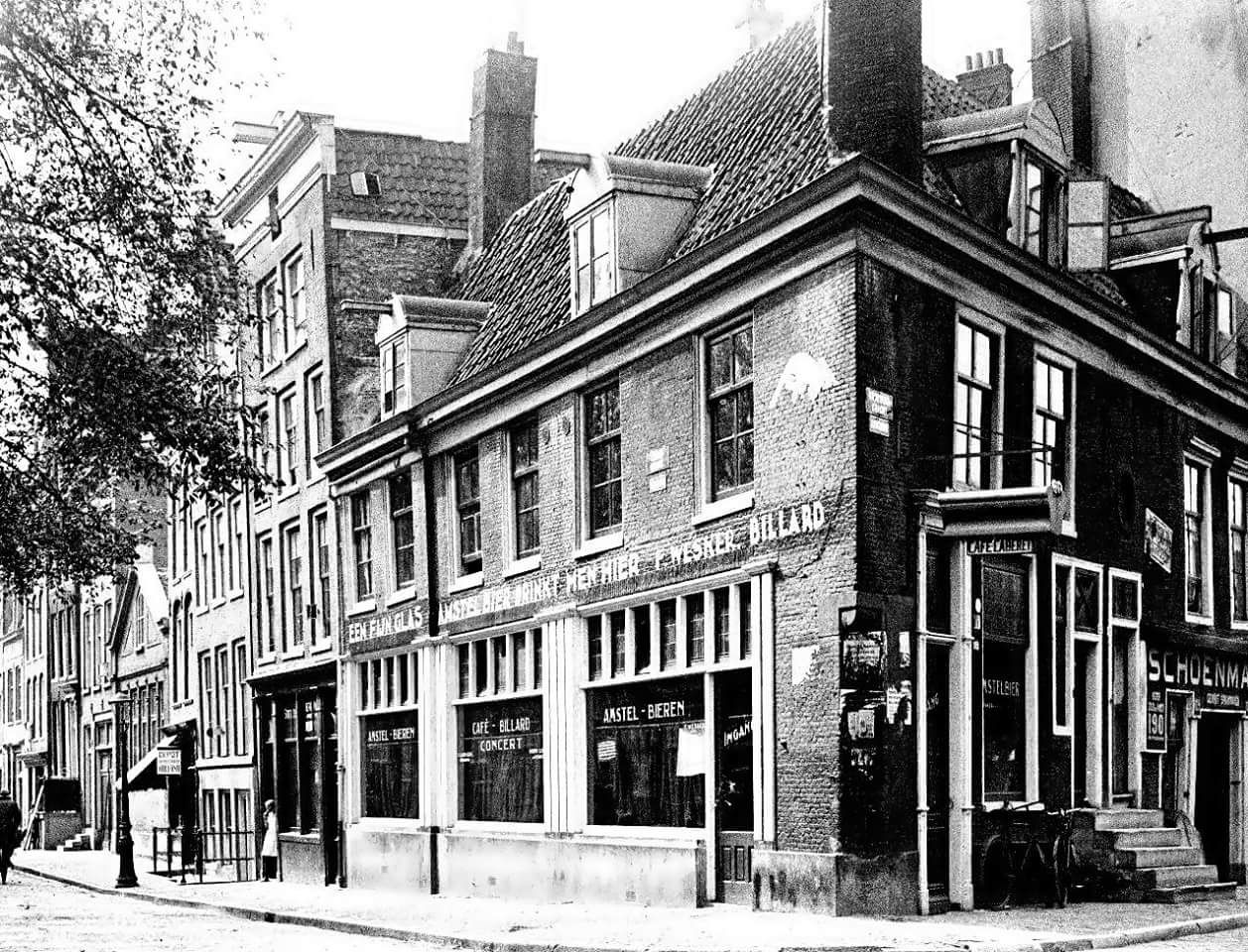 1948 A View Of Cafe F Wesker At The Corner Of Lindengracht And