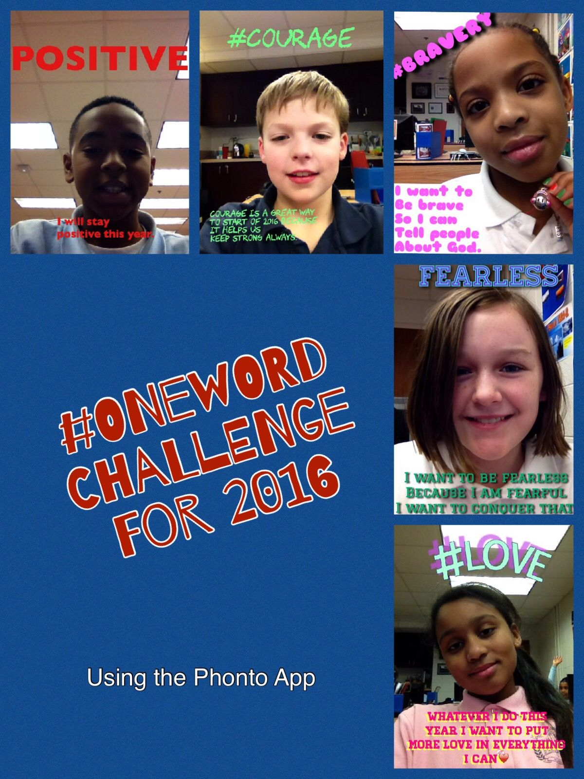 One Word Challenge using the Phonto App Technology from