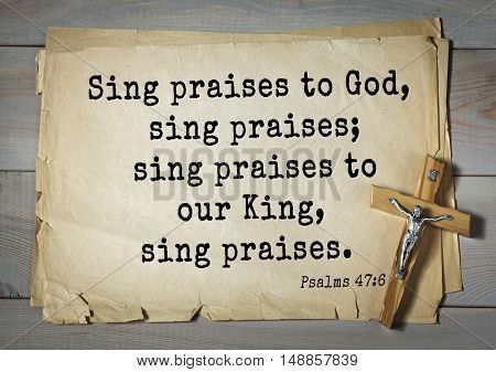TOP-1000  Bible verses from Psalms  Sing praises to God