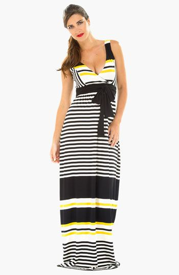 Olian Maternity Stripe Knit Maxi Dress | Nordstrom, even though it ...