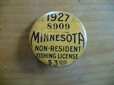 Very Rare 1927 Minnesota Non Resident Fishing License Great Condition Minnesota Fishing Room Fish